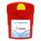 KIT ANALISE CLORO E PH LIMPER